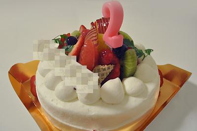 次男 2歳の誕生日ケーキ