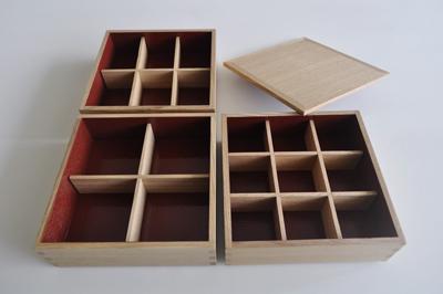 松屋漆器店 重箱の仕切りを購入 白木の重箱