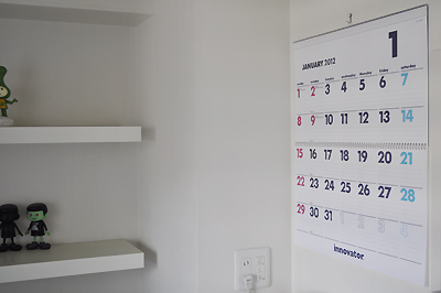 innovator 2012 カレンダーを購入しました。 イノベーター 北欧