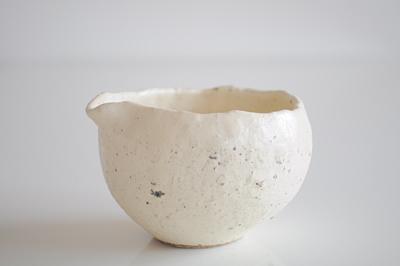 粉引き 片口の丸鉢 1